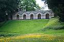 The Praeneste, a seven-arched  arcade by William Kent (1738-40), Rousham House and Garden.
