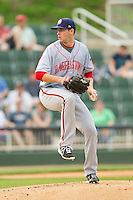 Hagerstown Suns starting pitcher Kylin Turnbull (31) in action against the Kannapolis Intimidators at CMC-Northeast Stadium on May 16, 2013 in Kannapolis, North Carolina.  The Suns defeated the Intimidators 10-7.   (Brian Westerholt/Four Seam Images)