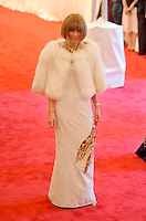 Anna Wintour at the 'Schiaparelli And Prada: Impossible Conversations' Costume Institute Gala at the Metropolitan Museum of Art on May 7, 2012 in New York City. ©mpi03/MediaPunch Inc.