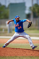 New York Mets Pitcher Nabil Crismatt (34) during a minor league Spring Training game against the St. Louis Cardinals on March 28, 2017 at the Roger Dean Stadium Complex in Jupiter, Florida.  (Mike Janes/Four Seam Images)