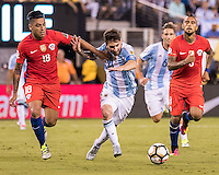 East Rutherford, NJ - June 26, 2016: Copa America Centenario USA 2016.  Argentina vs Chile in the finals at MetLife Stadium.  Final score Chile 0, Argentina 0, Chile wins on penalty kicks 4-2.