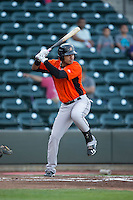 Jomar Reyes (30) of the Frederick Keys at bat against the Winston-Salem Dash at BB&T Ballpark on May 24, 2016 in Winston-Salem, North Carolina.  The Keys defeated the Dash 7-1.  (Brian Westerholt/Four Seam Images)