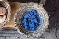 Lumps of Indigo for sale in Marrakech, Morocco