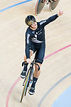 Ethan Mitchell of the team of New Zealand celebrates after the Men's Team Sprint Finals match as part of the 2017 UCI Track Cycling World Championships on 12 April 2017, in Hong Kong Velodrome, Hong Kong, China. Photo by Victor Fraile / Power Sport Images