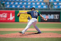 Northwest Arkansas Naturals pitcher Jace Vines (38) delivers a pitch on May 19, 2019, at Arvest Ballpark in Springdale, Arkansas. (Jason Ivester/Four Seam Images)
