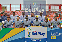 VILLAVICENCIO - COLOMBIA, 18-03-2021: Llaneros F.C. y Atletico F.C. durante partido de la fecha 2 vuelta primera ronda de clasificacion Copa Betplay DIMAYOR 2021 en el estadio Bello Horizonte de la ciudad de Villavicencio, Meta. / Llaneros F.C. and Atletico F.C. during a match of the 2nd date round of qualification Betplay DIMAYOR 2021 Cup at the Bello Horizonte stadium in Villavicencio city, Meta. Photo: VizzorImage / Juan Herrera / Cont