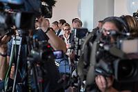 """Pressekonferenz der rechtsnationalistischen Partei Alternative fuer Deutschland (AfD) zum Thema """"Islamische Zuwanderung und Kriminalitaet"""" am Montag den 18. September 2017 in Berlin.<br /> Im Bild: Alice Weidel.<br /> 18.9.2017, Berlin<br /> Copyright: Christian-Ditsch.de<br /> [Inhaltsveraendernde Manipulation des Fotos nur nach ausdruecklicher Genehmigung des Fotografen. Vereinbarungen ueber Abtretung von Persoenlichkeitsrechten/Model Release der abgebildeten Person/Personen liegen nicht vor. NO MODEL RELEASE! Nur fuer Redaktionelle Zwecke. Don't publish without copyright Christian-Ditsch.de, Veroeffentlichung nur mit Fotografennennung, sowie gegen Honorar, MwSt. und Beleg. Konto: I N G - D i B a, IBAN DE58500105175400192269, BIC INGDDEFFXXX, Kontakt: post@christian-ditsch.de<br /> Bei der Bearbeitung der Dateiinformationen darf die Urheberkennzeichnung in den EXIF- und  IPTC-Daten nicht entfernt werden, diese sind in digitalen Medien nach §95c UrhG rechtlich geschuetzt. Der Urhebervermerk wird gemaess §13 UrhG verlangt.]"""