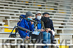 Templenoe supporters cheering on their team against Dr Crokes at their  SFC clash in Fitzgerald Stadium on Friday evening