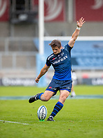 29th August 2020; AJ Bell Stadium, Salford, Lancashire, England; English Premiership Rugby, Sale Sharks versus Bristol Bears;   AJ MacGinty of Sale Sharks had a great day kicking for Sale