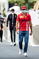 4th June 2021; Baku, Azerbaijan;  Free practise sessions;  SAINZ Carlos (spa), Scuderia Ferrari SF21 during the Formula 1 Azerbaijan Grand Prix 2021 at the Baku City Circuit, in Baku, Azerbaijan -