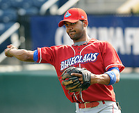 Jonathan Villar of the Lakewood BlueClaws, Class A affiliate of the Philadelphia Phillies, in a game against the Greenville Drive on May 13, 2010, at Fluor Field at the West End in Greenville, S.C. Photo by: Tom Priddy/Four Seam Images