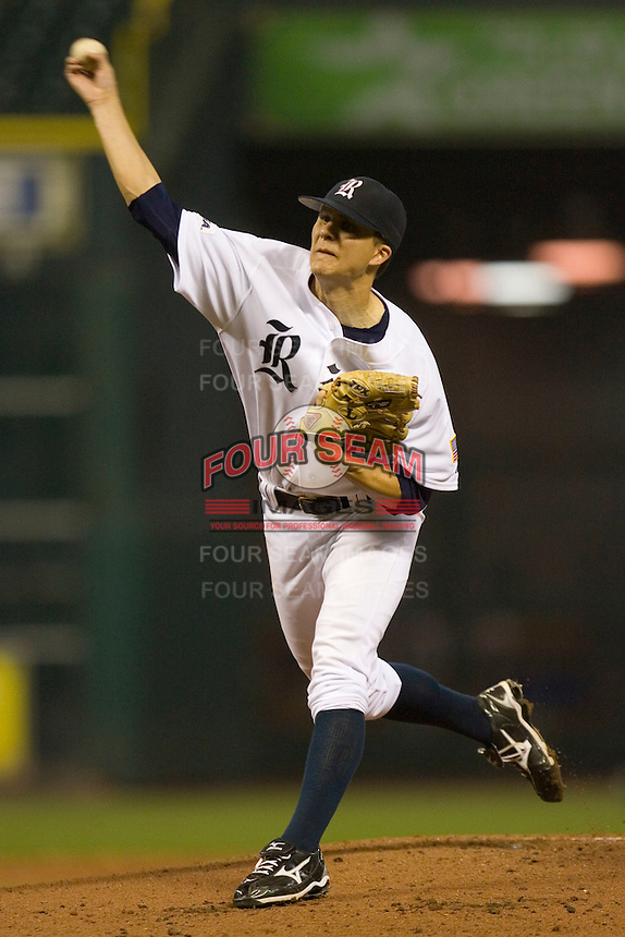 Starting pitcher Mike Ojala #17 of the Rice Owls in action versus the UCLA Bruins  in the 2009 Houston College Classic at Minute Maid Park February 27, 2009 in Houston, TX.  The Owls defeated the Bruins 5-4 in 10 innings. (Photo by Brian Westerholt / Four Seam Images)