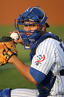 April 16, 2009:  Catcher Chirinos Robinson of the Daytona Cubs, Florida State League Class-A affiliate of the Chicago Cubs, during a game at Jackie Robinson Stadium in Daytona Beach, FL.  Photo by:  Mike Janes/Four Seam Images