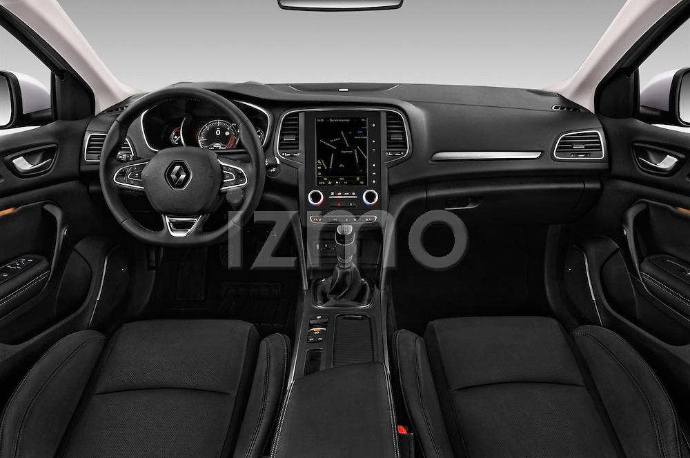 Stock photo of straight dashboard view of 2016 Renault Megane Bose 5 Door Hatchback Dashboard