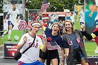 NASHVILLE, TN - SEPTEMBER 5: USA Fans before a game between Canada and USMNT at Nissan Stadium on September 5, 2021 in Nashville, Tennessee.