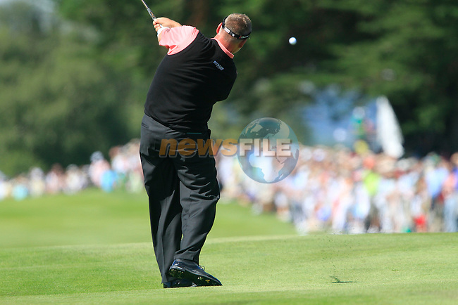 Darren Clarke plays his 2nd shot on the 16th hole during Day 1 of the 3 Irish Open at the Killarney Golf & Fishing Club, 29th July 2010..(Picture Eoin Clarke/www.golffile.ie)