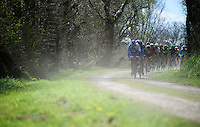entering the first gravel sector of the day in Traon Bihan<br /> <br /> 33th Tro Bro Léon 2016