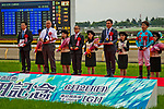 FUCHU,JAPAN-JUN 2: Winning ceremony, Breeders' Cup trophy was presented, after the Yasuda Kinen at Tokyo Racecourse on June 2,2019 in Fuchu,Tokyo,Japan. Kaz Ishida/Eclipse Sportswire/CSM