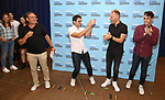Michael Greif, Benj Pasek, Justin Paul and Steven Levenson attend the National Tour Photo Call for 'Dear Evan Hansen' on September 6, 2018 at the New 42nd Street Studios in New York City.