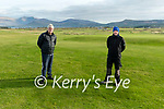 Ceann Sibéal Golf Course mamager Steve Fahy and greenkeeper J.J. Corduff getting the golf course ready for re-opening.