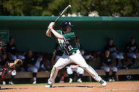 Plymouth State Panthers Peter Esposito (11) during the second game of a doubleheader against the Edgewood Eagles on March 17, 2015 at Terry Park in Fort Myers, Florida.  Edgewood defeated Plymouth State 9-2.  (Mike Janes/Four Seam Images)