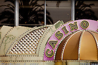 Sign above the entrance to the Casino Ruhl, Nice, France, 28 April 2012