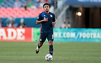 DENVER, CO - JUNE 3: Weston McKennie #8 of the United States chases down a loose ball during a game between Honduras and USMNT at EMPOWER FIELD AT MILE HIGH on June 3, 2021 in Denver, Colorado.