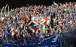 FC Luzern v St Johnstone...17.07.14  Europa League 2nd Round Qualifier<br /> Saints fans celebrate Steven MacLean's goal<br /> Picture by Graeme Hart.<br /> Copyright Perthshire Picture Agency<br /> Tel: 01738 623350  Mobile: 07990 594431