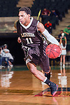 Lehigh Mountain Hawks guard Mackey McKnight (11) in action during the game between the Lehigh Mountain Hawks and the North Texas Mean Green at the Super Pit arena in Denton, Texas. Lehigh defeats UNT 90 to 75...