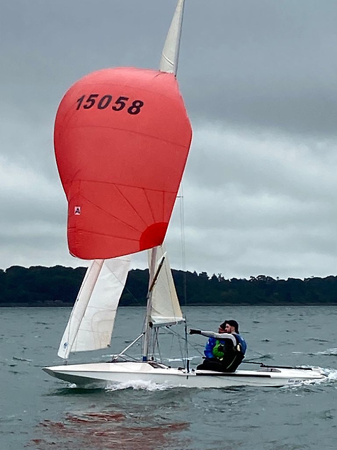 Leo Hickey sailing with his father Ciaran
