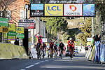 Magnus Cort Nielsen (DEN) EF Education-Nippo wins the sprint ahead of Christophe Laporte (FRA) Cofidis to win Stage 8 of Paris-Nice 2021, running 92.7km from Le Plan-du-Var to Levens, France. 14th March 2021.<br /> Picture: ASO/Fabien Boukla | Cyclefile<br /> <br /> All photos usage must carry mandatory copyright credit (© Cyclefile | ASO/Fabien Boukla)