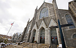 WATERBURY, CT-122517JS05---St. Patrick's Church, part of the St. Blaise Parish, in Waterbury held a Christmas morning Mass on Monday. <br /> Jim Shannon Republican-American