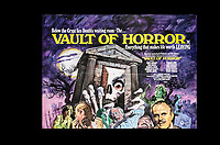 BNPS.co.uk (01202) 558833. <br /> Pic: SpecialAuctionServices/BNPS<br /> <br /> A poster for 1973 film, The Vault of Horror<br /> <br /> A collection of rare movie posters that have been sat gathering dust in a garage have sold at auction for £6,500.<br /> <br /> The 32 sheets date from the 1950s to the '70s and promote classic movies such as Frankenstein and Christopher Lee's Dracula.<br /> <br /> The vendor had owned the posters for several years after she had inherited them from a relative.
