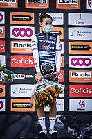 podium with race winner Elizabeth Deignan (GBR/Trek-Segafredo) <br /> <br /> 4th Liège-Bastogne-Liège-Femmes 2020 (1.WWT)<br /> 1 Day Race: Bastogne – Liège 135km<br /> <br /> ©kramon