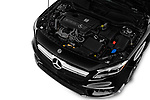 Car stock 2019 Mercedes Benz GLA AMG 45 5 Door SUV engine high angle detail view