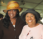 Councilwoman Wanda Adama and June Deadrick at the Hermann Park Conservancy Hat Party Tuesday March 9,2010. (Dave Rossman Photo)
