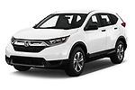 2019 Honda CR-V LX 5 Door SUV Angular Front stock photos of front three quarter view