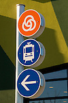Signage along the MAX Greenline in Portland, OR.