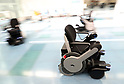 Robot wheelchair and multilingual transport information service put to use at airport