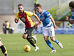 Partick Thistle v St Johnstone…10.09.16..  Firhill  SPFL<br />Chris Millar gets away from Sean Welsh<br />Picture by Graeme Hart.<br />Copyright Perthshire Picture Agency<br />Tel: 01738 623350  Mobile: 07990 594431
