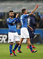 Football: Uefa Nations League Group 3match Italy vs Portugal at Giuseppe Meazza (San Siro) stadium in Milan, on November 17, 2018.<br /> Italy's Lorenzo Insigne (l) greets fans at the end of the Uefa Nations League match between Italy and Portugal at Giuseppe Meazza (San Siro) stadium in Milan, on November 17, 2018.<br /> Italy and Portugal drawns 0-0.<br /> UPDATE IMAGES PRESS/Isabella Bonotto