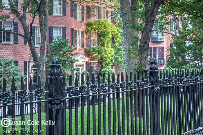 Lovely 18th-century brick homes on Beacon Hill, Boston, MA, USA