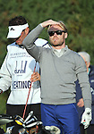 Pic Kenny Smith............. 01/10/2009.Dunhill Links Championship, Kingsbarns Links, Singer Ronan Keating struggles to see the ball with the bright Scottish Suinshine over the Kingsbarns Links