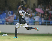 Antigua and Barbuda, Friday, Oct 12, 2012: The USA Men's National Team vs Antigua and Barbuda in the first round of qualifying for the 2014 World Cup. Eddie Johnson celebrates his goal.