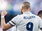 Karim Benzema of Real Madrid celebrates during their La Liga match between Real Madrid and Deportivo Alaves at the Santiago Bernabeu Stadium on 02 April 2017 in Madrid, Spain. Photo by Diego Gonzalez Souto / Power Sport Images