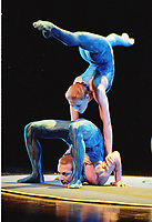 Montreal. 1999-06 File Photo. Montreal based Cirque du Soleil performers. <br /> Photo :  (c) Pierre Roussel, 1999