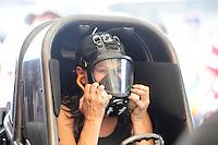 Jul, 10, 2011; Joliet, IL, USA: NHRA funny car driver Melanie Troxel during the Route 66 Nationals at Route 66 Raceway. Mandatory Credit: Mark J. Rebilas-