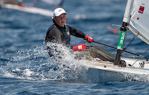Howth Yacht Club ILCA 6 sailor Eve McMahon