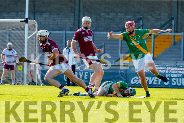Anthony Fealy, Causeway in action against Maurice O'Connor, Kilmoyley during the Kerry County Senior Hurling Championship Final match between Kilmoyley and Causeway at Austin Stack Park in Tralee