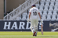 Nick Browne of Essex leaves the field having been dismissed for 64 during Nottinghamshire CCC vs Essex CCC, LV Insurance County Championship Group 1 Cricket at Trent Bridge on 9th May 2021